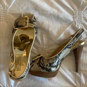 Michael Kors High Heel Snakeskin Sandals